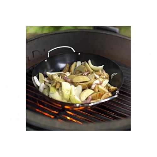 big green egg round grill wok basket. Black Bedroom Furniture Sets. Home Design Ideas