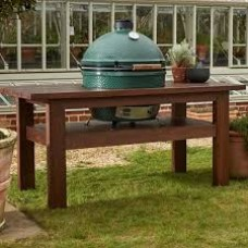 Big Green Egg XL Premium Royal Mahogany Table Bundle