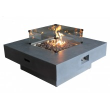 Capella Gas Fire Pit - Large Glass Screen