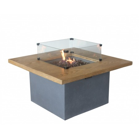 Altair Gas Fire Pit - Glass Screen
