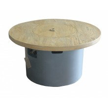 Round Wood Table With Infill