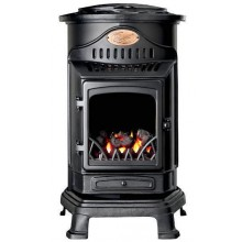 Provence Portable Real Flame Gas Heater in Matt Black