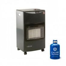 Lifestyle Seasons Warmth Portable Gas Heater in Black + 15kg Gas Bottle