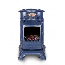 Provence Portable Real Flame Gas Heater in Blue
