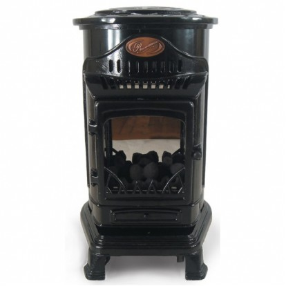 Provence Portable Real Flame Gas Heater - Gloss Black