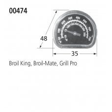 00474 BBQ Heat Indicator - Sterling