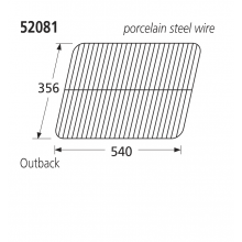 52081 Replacement Porcelain Steel Wire Grill for Ohio/Outback/Sahara BBQs