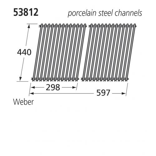 53812 BBQ Porcelain Steel Grill