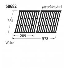 58682 Replacement Porcelain Steel Grill for Weber Spirit/Genesis BBQs