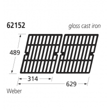 62152 Replacement Grill for Weber Genesis BBQs