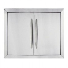 Napoleon Flush Mount Stainless Steel Double Door (Large)