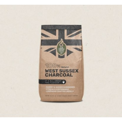 Green Olive Charcoal - West Sussex British Lumpwood - 4kg