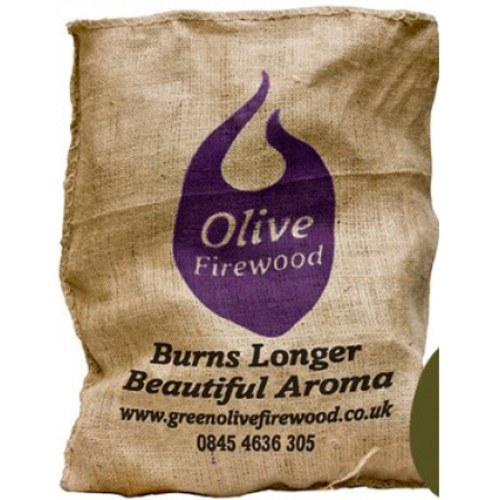 Green Olive Hessian 10kg - Olive Wood