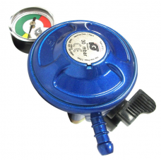 Butane Regulator 21mm with Gauge Clip On