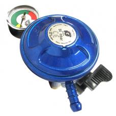 Butane Regulator 21mm with Gauge Clip On