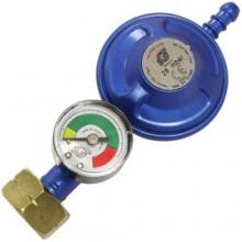 Butane Regulator With Gauge Screw In