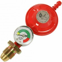 Propane Regulator With Gauge Screw In