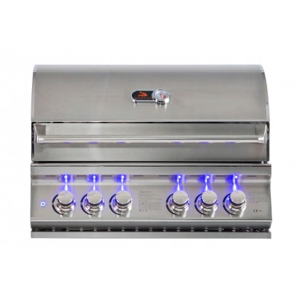 Whistler Grills - Burford 4 Built In Gas BBQ - Free Cover & Rotisserie