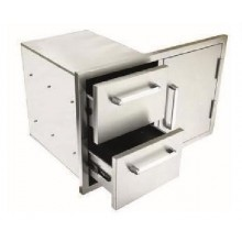 Whistler Outdoor Stainless Steel Door and Double Drawer Combo