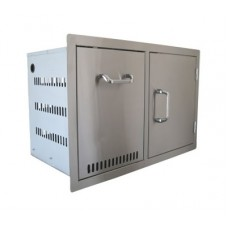 Beefeater Stainless Build-in Propane Tank & Single Door Combo