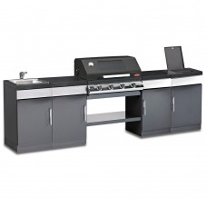 Beefeater Discovery Plus 1100 4 Burner Outdoor Kitchen with Sink Unit and Side Burner Unit