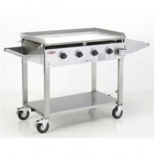 Beefeater Clubman Stainless Steel Hotplate 4 Burner Gas BBQ - Local Area - Pre Assembled